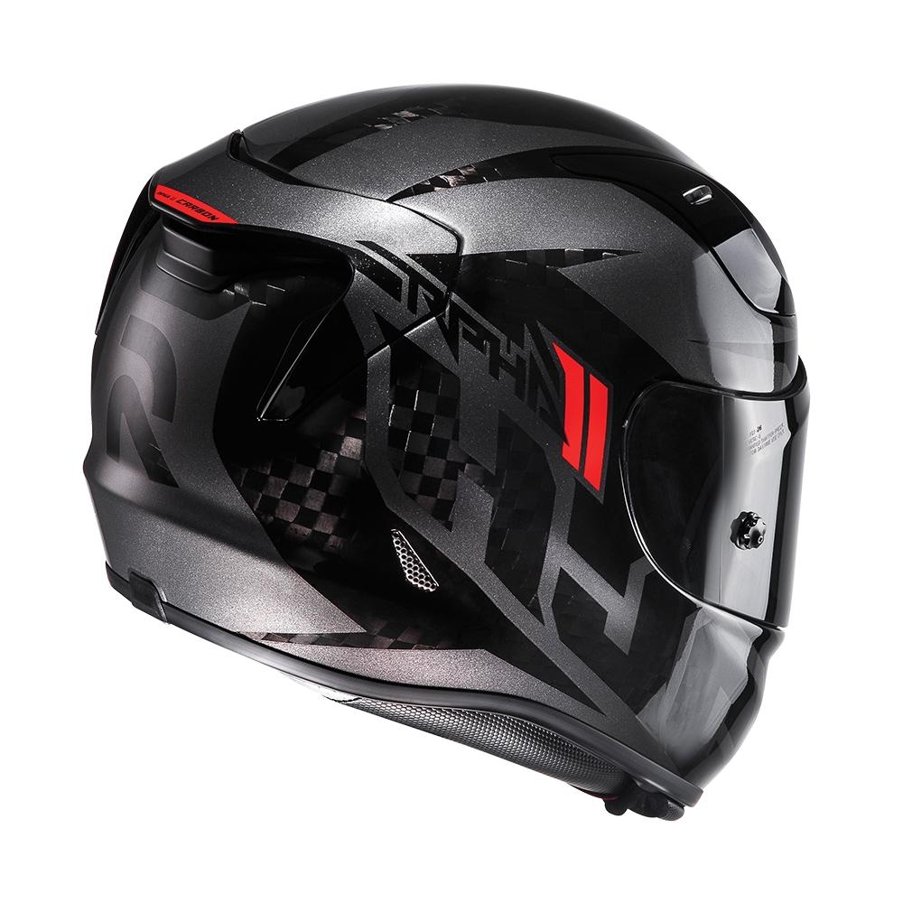 hjc rpha 11 lowin carbon black motorcycle helmet nightingales. Black Bedroom Furniture Sets. Home Design Ideas