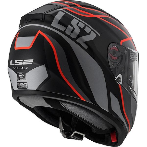 Ls2 Ff397 Vector Evo Vantage Red Full Face Helmet