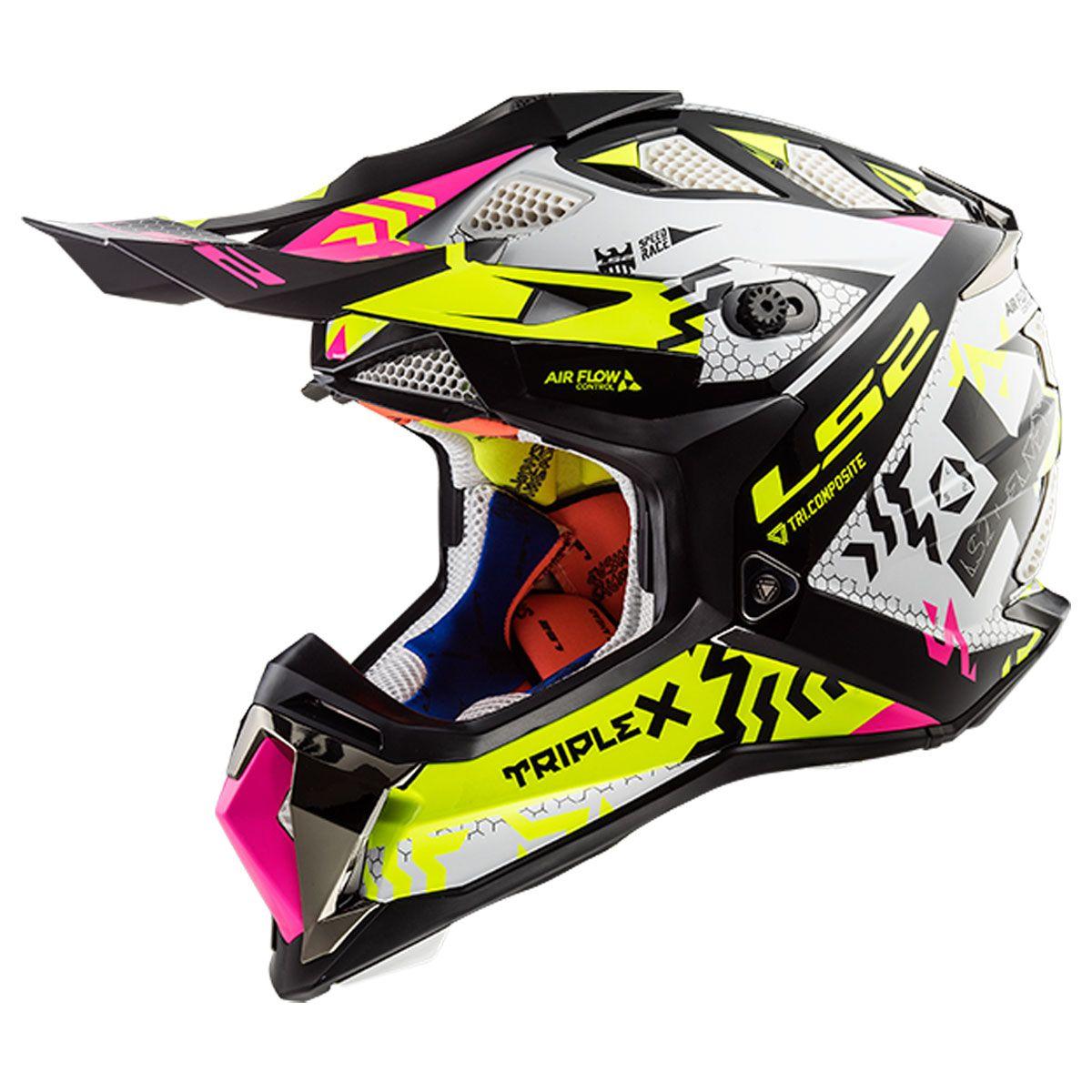 LS2 MX470 Subverter Triplex Black Yellow Pink