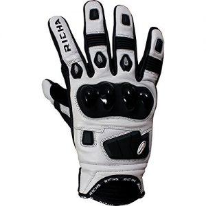Richa-Rock-Short-Leather-Sports-Summer-Motorcycle-Gloves-Blackwhite-B010TJOYIK