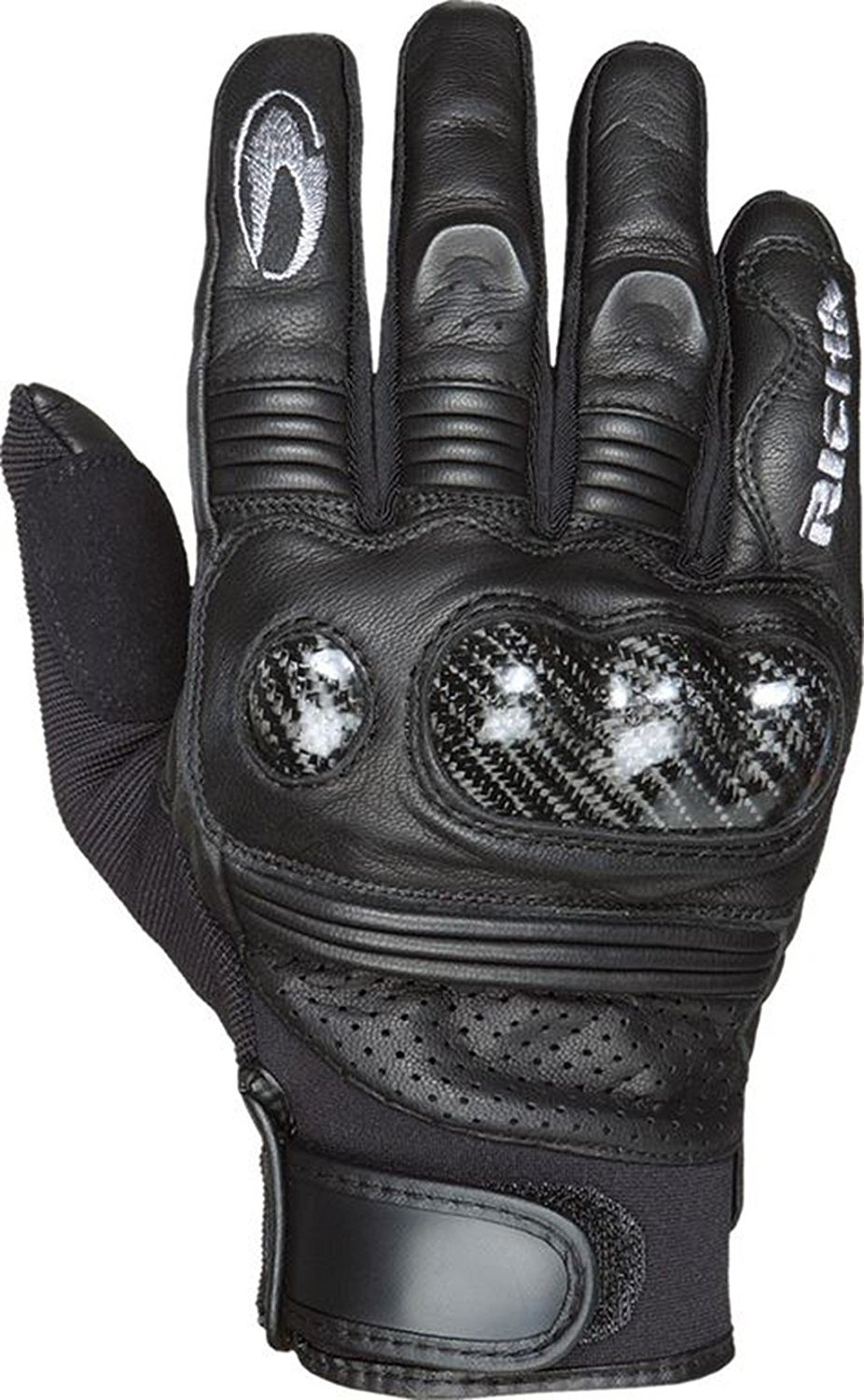 Richa Protect Summer Mens Motorbike Motorcycle Glove Black