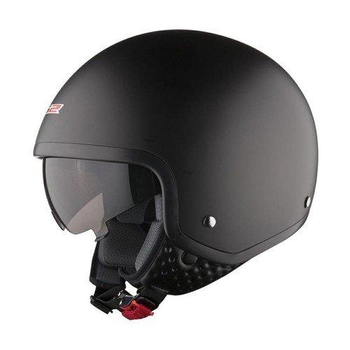 Ls2 Wave Matt Black Open Face Scooter Helmet With Drop