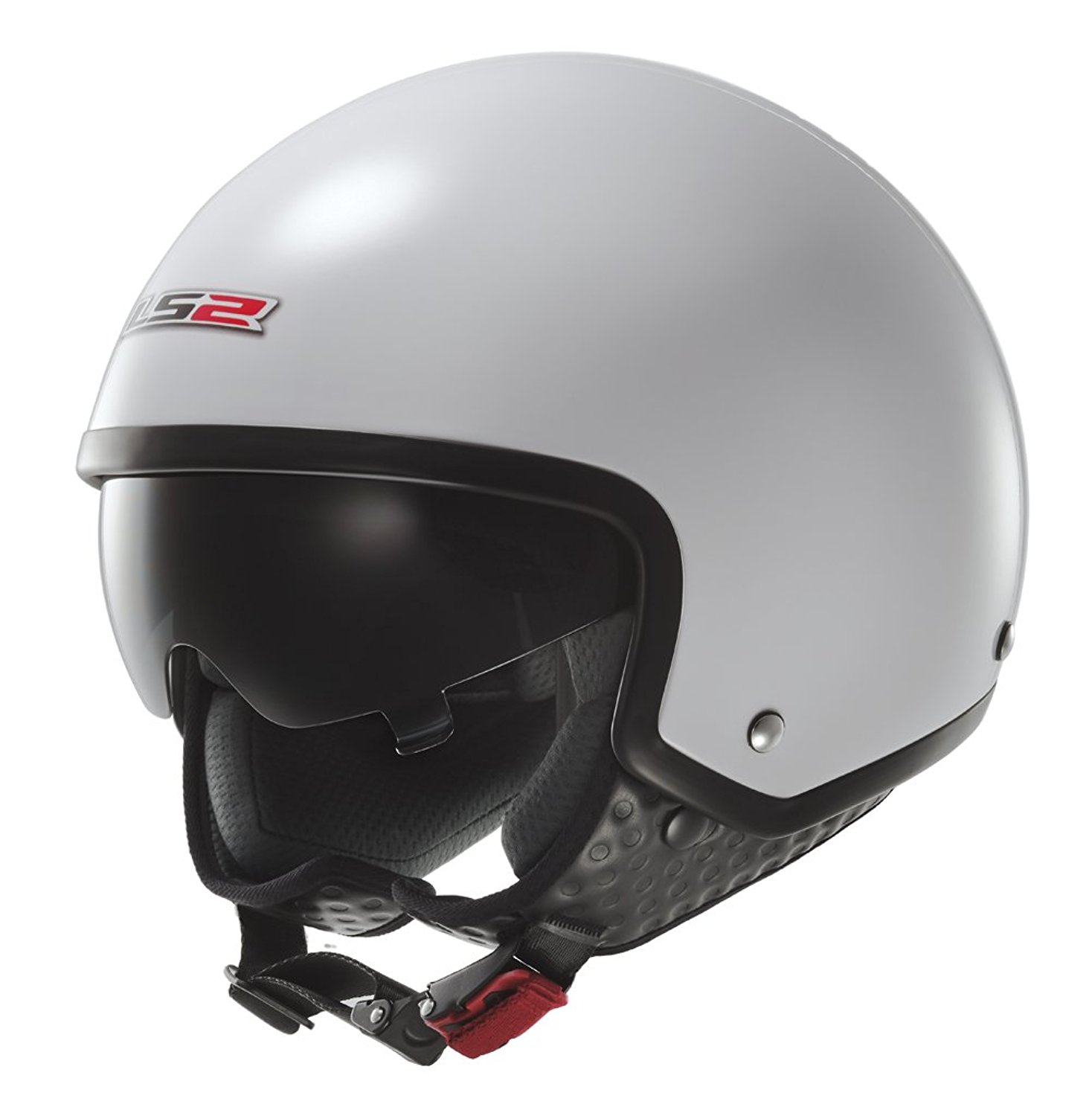 LS2 Wave White Open Face Scooter Helmet with Drop Down Sun Visor ... e0fccdcac9d